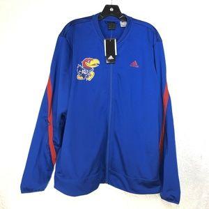 B29 University of Kansas NCAA Adidas Blue Jacket